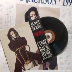 Discos de vinilo: JANET JACKSON - COME BACK TO ME/ALRIGHT, UK 1990,ED. LIMITADA CON POSTER (VG+_VG+). Lote 245925905