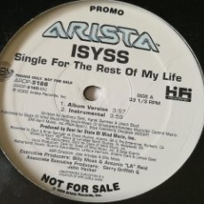 Discos de vinilo: ISYSS - SINGLE FOR THE REST OF MY LIFE - 2002. Lote 245933935