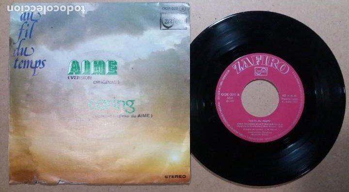 AU FIL DU TEMPS / AIME / SINGLE 7 PULGADAS (Música - Discos - Singles Vinilo - Canción Francesa e Italiana)