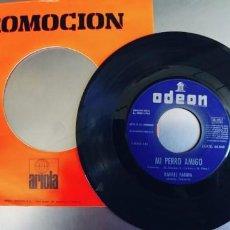Discos de vinilo: RAFAEL FARINA-SINGLE MI PERRO AMIGO-SINFONOLA. Lote 245941650