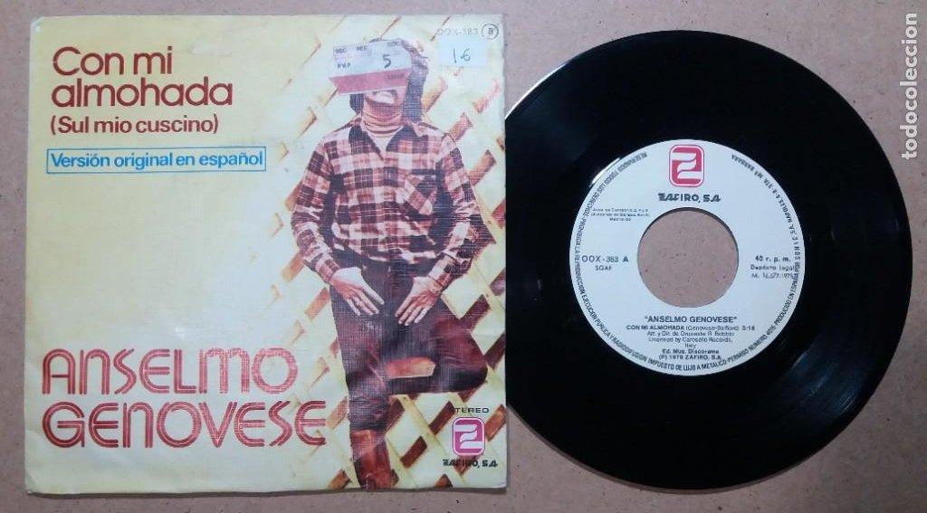 ANSELMO GENOVESE / CON MI ALMOHADA / SINGLE 7 PULGADAS (Música - Discos - Singles Vinilo - Canción Francesa e Italiana)