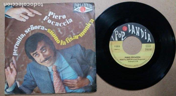 PIERO FOCACCIA / PERMITA, SEÑORA / SINGLE 7 PULGADAS (Música - Discos - Singles Vinilo - Canción Francesa e Italiana)