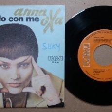 Discos de vinilo: ANNA OXA / FATELO CON ME / SINGLE 7 PULGADAS. Lote 245943370