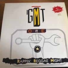 Discos de vinilo: GMT ONE RAPPING REGGAE NIGHT. Lote 245944215