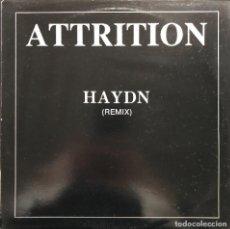 Discos de vinilo: ATTRITION – HAYDN (REMIX) ANT 089 MAXI BELGIUM 1988 ELECTRO, SYNTH-POP VINILO NM CARPETA VG. Lote 245947500