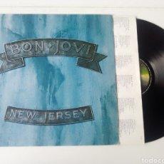 Discos de vinilo: BON JOVI LP NEW JERSEY + ENCARTE 1988 HARD ROCK SLEAZY. Lote 245949285