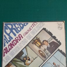 Discos de vinilo: SINGLE AKFEDRO ALONDRA ALIUTTE LAS BICICLETAS DE BELSIZE PHILIPS DISCOS COLISEVM. Lote 245951635