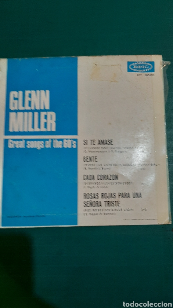 Discos de vinilo: Single GLENN MILLER GRAT SONG OF THE 60 DISCOS COLISEVM - Foto 2 - 245953240