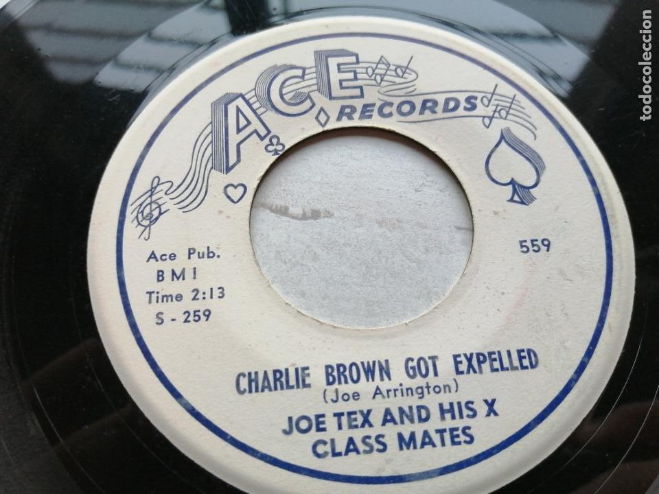 JOE TEX AND HIS X CLASS MATES – CHARLIE BROWN GOT EXPELLED SINGLE USA 1958 EX (Música - Discos - Singles Vinilo - Funk, Soul y Black Music)