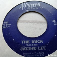 Discos de vinilo: JACKIE LEE – THE DUCK/LET YOUR CONSCIENCE BE YOUR GUIDE SINGLE USA 1965 VG+. Lote 245957675