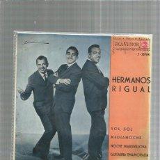 Discos de vinilo: HERMANOS RIGUAL SOLE SOLE + REGALO SORPRESA. Lote 245959090
