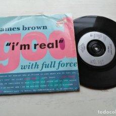 Discos de vinilo: JAMES BROWN WITH FULL FORCE – I'M REAL SINGLE UK 1988 VG+/VG+ HIP HOP FUNK SOUL. Lote 245970030