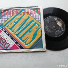 Discos de vinilo: JAMES BROWN / VINCE DICOLA – LIVING IN AMERICA / FAREWELL SINGLE UK 1985 VINILO VG+/PORTADA VG. Lote 245970555