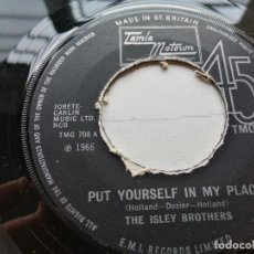 Discos de vinilo: THE ISLEY BROTHERS ‎– PUT YOURSELF IN MY PLACE SINGLE UK 1969 VG+. Lote 245974380