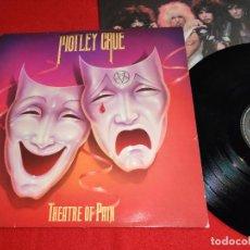 Discos de vinil: MOTLEY CRUE THEATRE OF PAIN LP 1985 ELEKTRA EDICION ESPAÑOLA SPAIN. Lote 245983795