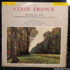 Discos de vinilo: CESAR FRANCK SINFONIA EN RE MENOR / VARIACIONES SINFÓNICAS PARA PIANO Y ORQUESTA. Lote 245984905