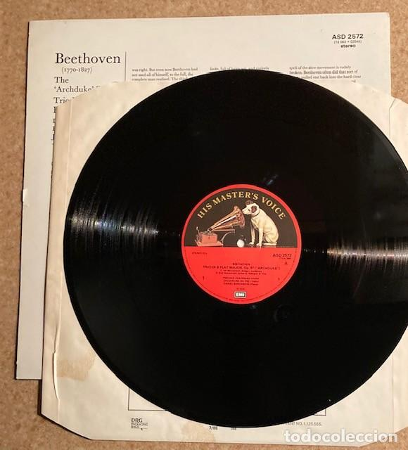 Discos de vinilo: BAREMBOIM, ZUKERMAN, DU PRE - BEETHOVEN - THE ARCHDUKE TRIO - Foto 3 - 245987505