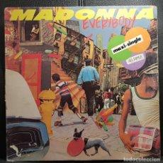 Discos de vinilo: MADONNA - EVERYBODY - MAXISINGLE - ESPAÑA - VER DESCRIPCION - RARO - NO USO CORREOS. Lote 245988565