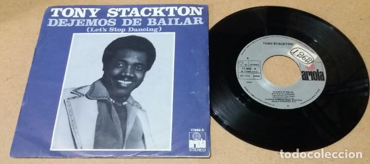 TONY STACKTON / DEJEMOS DE BAILAR / SINGLE 7 PULGADAS (Música - Discos - Singles Vinilo - Funk, Soul y Black Music)