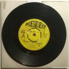 Discos de vinilo: DICK ROMAN. BREAKING UP AND MAKING UP/ WELCOME BACK MY LOVE. PRESIDENT, UK 1967 SINGLE PROMOCIONAL. Lote 246013660