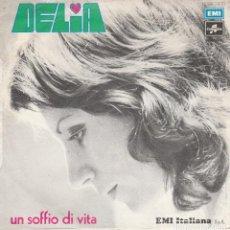 Discos de vinilo: 45 GIRI DELIA PER RICOMINCEREI LABEL COLUMBIA MADE IN ITALY BRUNO LAUZI FESTIVAL DI SANREMO 1973. Lote 246039765