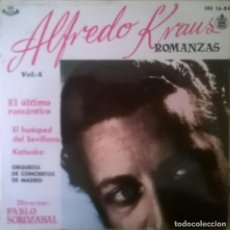 Discos de vinilo: ALFREDO KRAUS-ROMANZAS DE ZARZUELAS VOL. 4, HISPAVOX HH 16-84. Lote 246042690