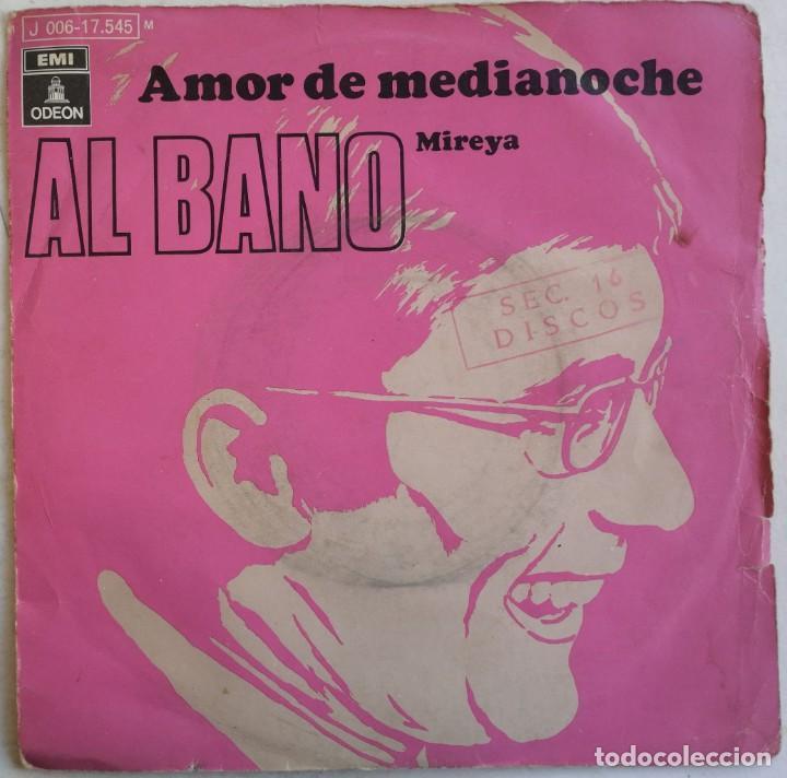 (SÓLO CUBIERTA, SIN DISCO) AL BANO-AMOR DE MEDIANOCHE, ODEON 1J 006-17.545 M (Música - Discos - Singles Vinilo - Canción Francesa e Italiana)