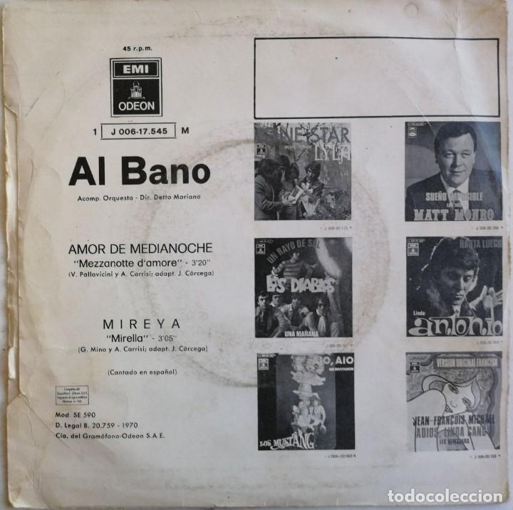 Discos de vinilo: (SÓLO CUBIERTA, SIN DISCO) Al Bano-Amor De Medianoche, Odeon 1J 006-17.545 M - Foto 2 - 246044030