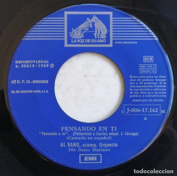 (SÓLO DISCO) AL BANO-PENSANDO EN TI, LA VOZ DE SU AMO 1 J-006-17.162 M (Música - Discos - Singles Vinilo - Canción Francesa e Italiana)