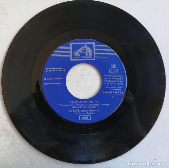 Discos de vinilo: (SÓLO DISCO) Al Bano-Pensando En Ti, La Voz De Su Amo 1 J-006-17.162 M - Foto 4 - 246044235