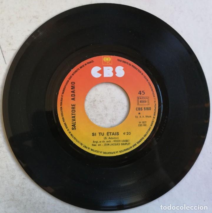 Discos de vinilo: Adamo-Si Tu Étais Manuel, CBS CBS 5160 - Foto 3 - 246045670