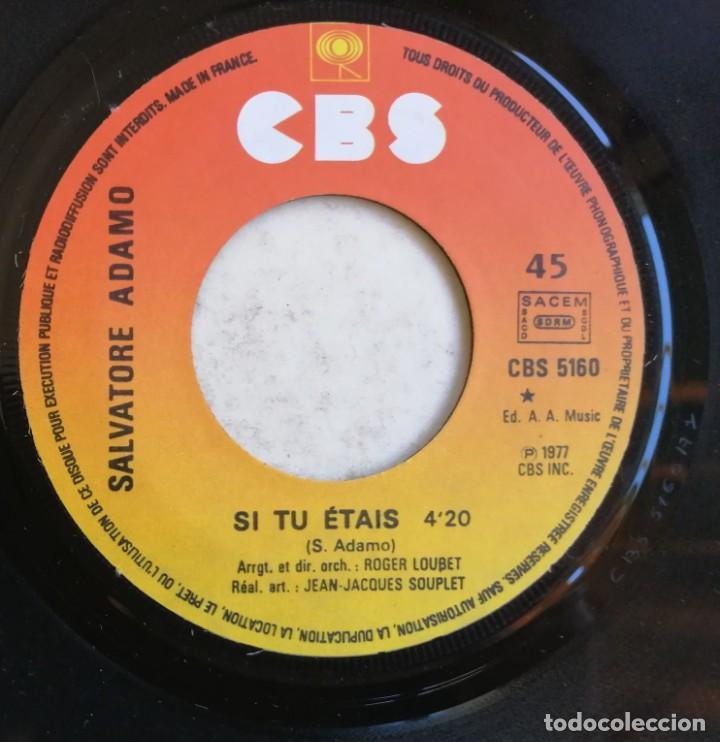 Discos de vinilo: Adamo-Si Tu Étais Manuel, CBS CBS 5160 - Foto 4 - 246045670