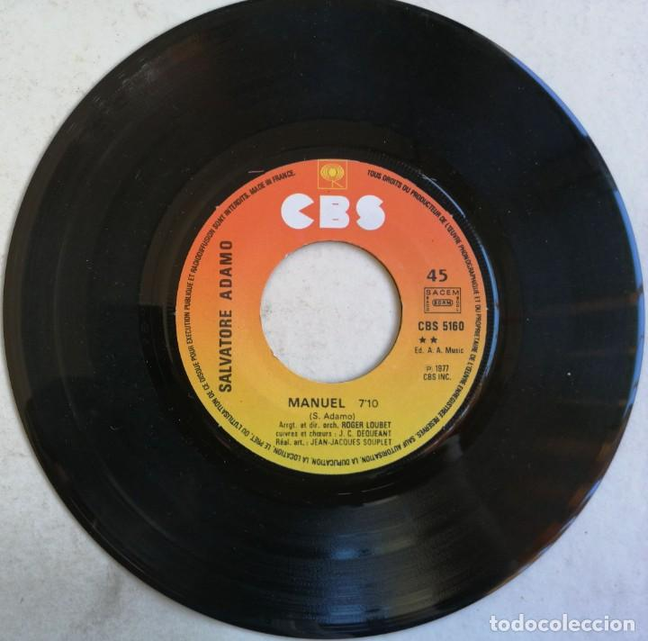 Discos de vinilo: Adamo-Si Tu Étais Manuel, CBS CBS 5160 - Foto 5 - 246045670