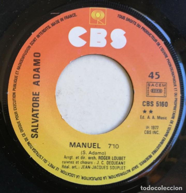 Discos de vinilo: Adamo-Si Tu Étais Manuel, CBS CBS 5160 - Foto 6 - 246045670