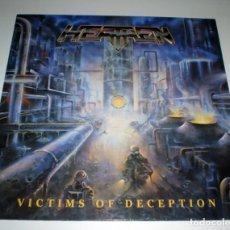 Discos de vinilo: LP HEATHEN - VICTIMS OF DECEPTION. Lote 246046615