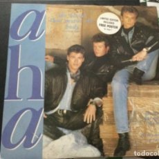 Discos de vinilo: A-HA - THE BLOOD THAT MOVES THE BODY . POSTER . UK . ED. LIMITED. Lote 246046995