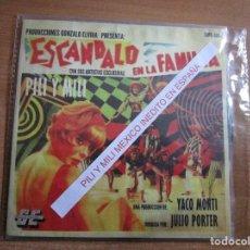 Discos de vinilo: PILI Y MILI ( MEXICO ) PROMOCIONAL // ESCANDALO EN LA FAMILIA. Lote 246047090