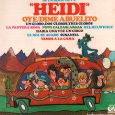 Discos de vinilo: CANCIONES DE SERIES INFANTILES DE TELEVISION - HEIDI, LA PANTERA ROSA.../ LP GM 1981 RF-9256. Lote 246047680