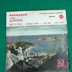 Discos de vinilo: SARDANAS. NURIA D'AVINYO + 3. COBLA MONT. EP RCA. Lote 246066860