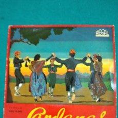 Discos de vinilo: SARDANAS. AURA D'ABRIL + 3. COBLA BARCELONA. EP REGAL. Lote 246067355