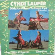 Discos de vinilo: CYNDI LAUPER - GIRLS JUST WANT TO HAVE FUN - MAXI SINGLE SELLO PORTRAIL 1983. Lote 246073880