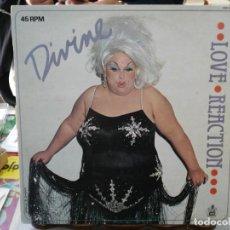 Discos de vinilo: DIVINE - LOVE REACTION - MAXI SINGLE SELLO ``0´´ RECORDS 1983. Lote 246074275