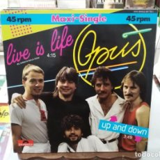 Discos de vinilo: OPUS - LIVE IS LIFE - MAXI SINGLE SELLO POLYDOR 1984. Lote 246075980