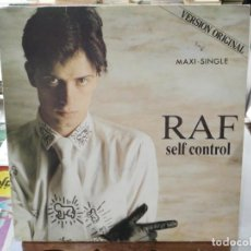 Discos de vinilo: RAF - SELF CONTROL - MAXI SINGLE SELLO CARRERE 1984. Lote 246076525