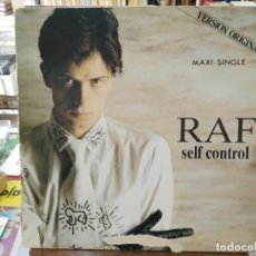 Discos de vinilo: RAF - SELF CONTROL - MAXI SINGLE SELLO CARRERE 1984. Lote 246076600