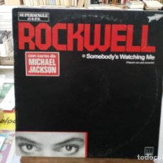 Discos de vinilo: ROCKWELL - SOMEDBODY´S WATCHING ME - MAXI SINGLE SELLO MOTOWN 1984. Lote 246076820