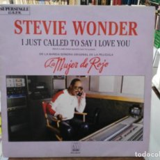 Discos de vinilo: STEVIE WONDER - I JUST CALLED TO SAY I LOVE YOY - MAXI SINGLE MOTOWN 1984. Lote 246078160