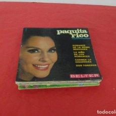 Discos de vinilo: LOTE 17 CARPETAS VACIAS SINGLE / EP PAQUITA RICO ROCIO JURADO PERET HEIDI CARLOS MATA PARA DECORAR. Lote 246103955