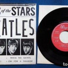 Discos de vinilo: BEATLES STARS OF THE STARS EDITADO POR PERGOLA ESPAÑA 1964 SINGLE EP ORIGINAL EPOCA EXCELENTE. Lote 246106750