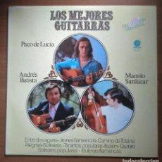 Discos de vinilo: LOS MEJORES GUITARRAS, PACO DE LUCÍA, ANDRÉS BATISTA, MANOLO SANLUCAR, IMPACTO EL-420. Lote 245724215